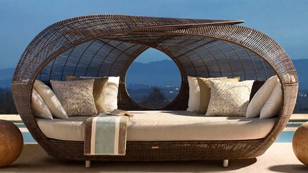 Make Outdoor Living Comfy with 15 Rattan Daybeds Home  : outdoor daybeds ratan from homedesignlover.com size 630 x 354 jpeg 86kB