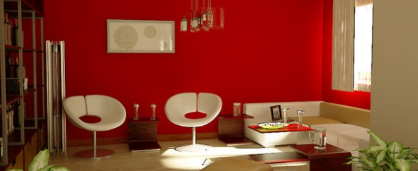 15 Red Themed Living Room Designs