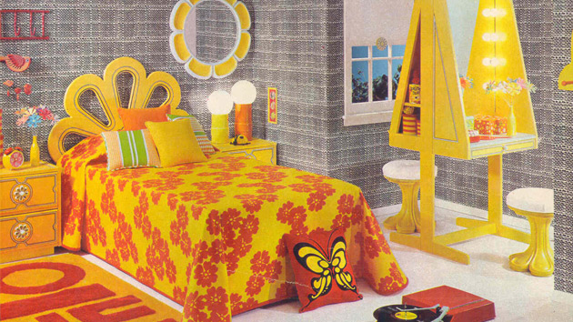 15 funky retro bedroom designs home design lover for Interior design 70s house