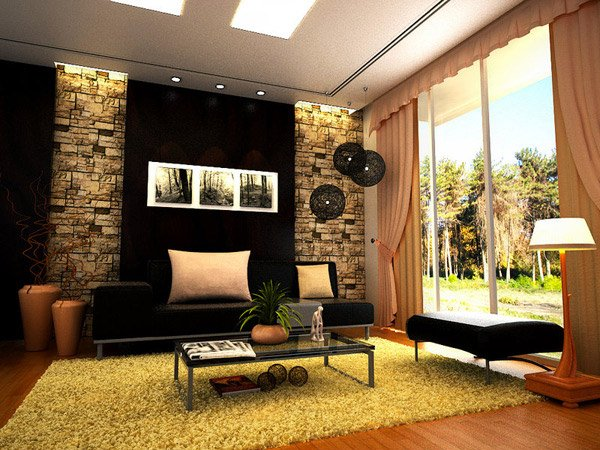 16 contemporary living room ideas home design lover for Contemporary living room art