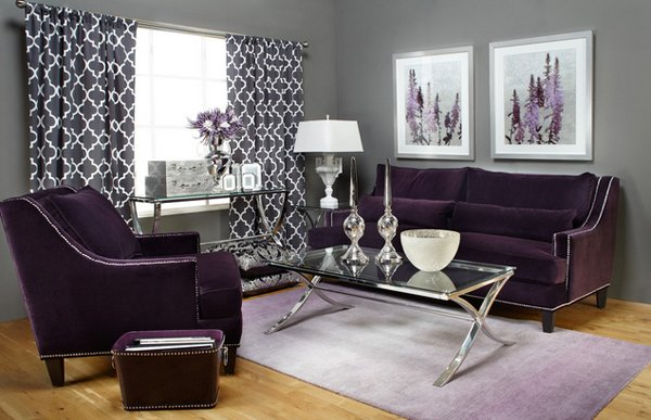Chic living15 Catchy Living Room Designs with Purple Accent Home Design  Lover  Purple And Gray. Purple And Gray Living Room  chic living15 Catchy Living Room
