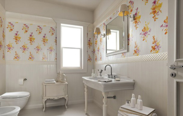 List Deluxe 15 Lovely Bathrooms With Ornamental Wall Tiles List Deluxe