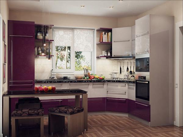 Интерьер угловой кухни дизайн