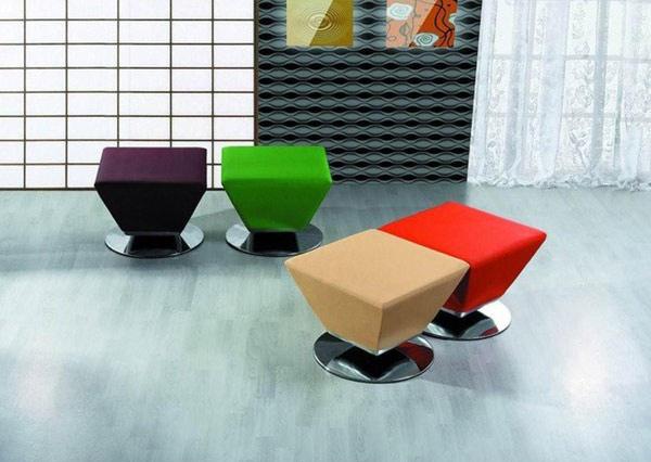 Cube Leatherette Ottoman
