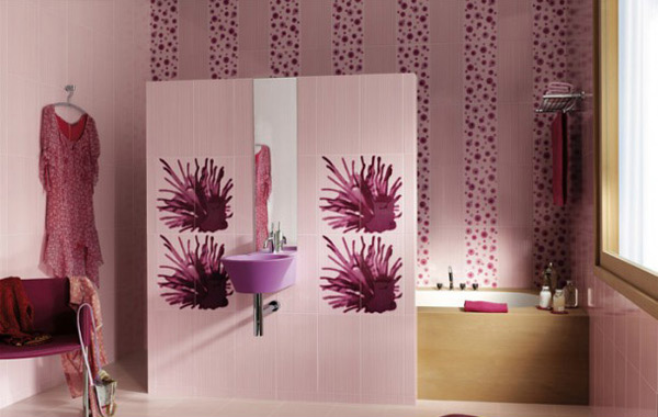 Purple Sink White Floral