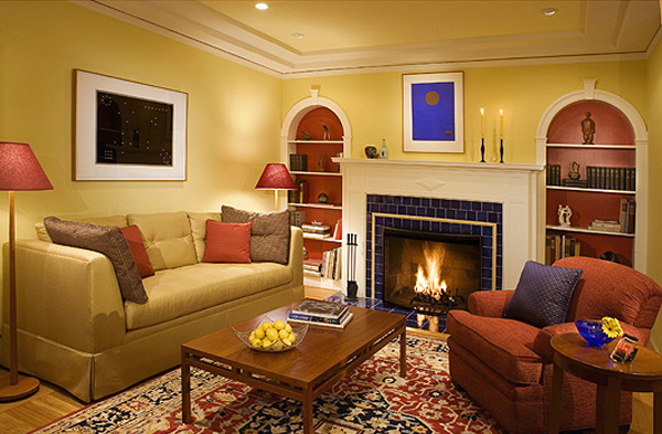 15 vibrant small living room decor ideas home design lover for Warm cozy living room ideas