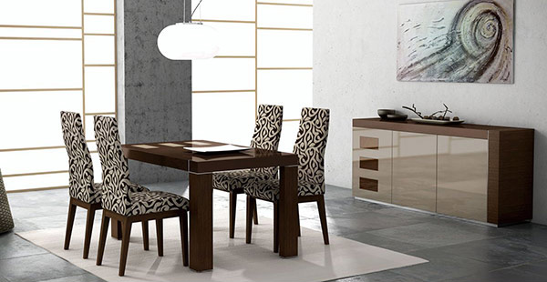 15 sophisticated modern dining room sets home design lover. Black Bedroom Furniture Sets. Home Design Ideas