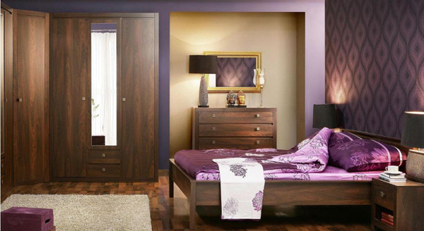 15 vibrant purple bedroom ideas home design lover Purple and gold bedrooms