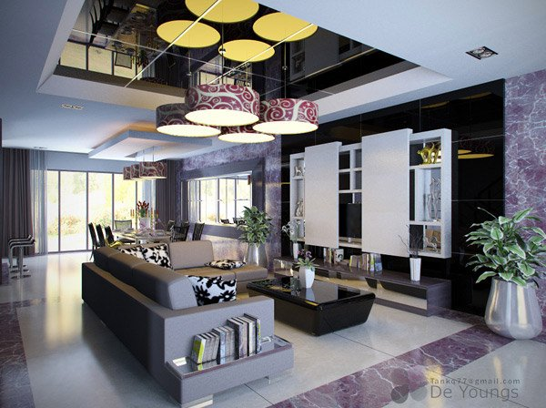 Living and Dining Room  Email  Save Photo  lighting design16 Contemporary Living Room Ideas   Home Design Lover. Modern Living And Dining Room Design. Home Design Ideas