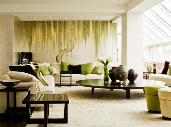 15 living room wall decor for added interior beauty home - Deco zen salon salle a manger ...