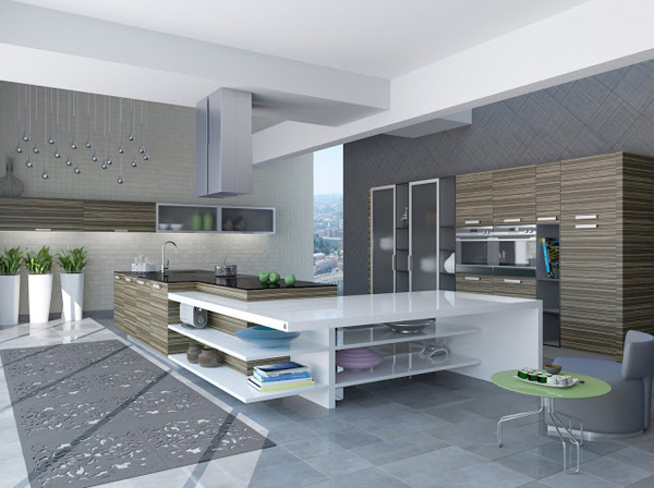 ModernA Collection of 15 Classy Chic Kitchen Designs   Home Design Lover. Modern Chic Kitchen Designs. Home Design Ideas