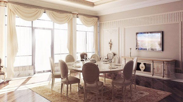 Curtains For Dining Room Classic Home Design Lover
