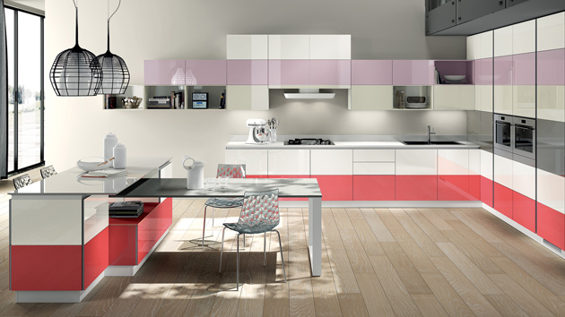 20 modern kitchen color schemes home design lover for Kitchen designs and colours schemes
