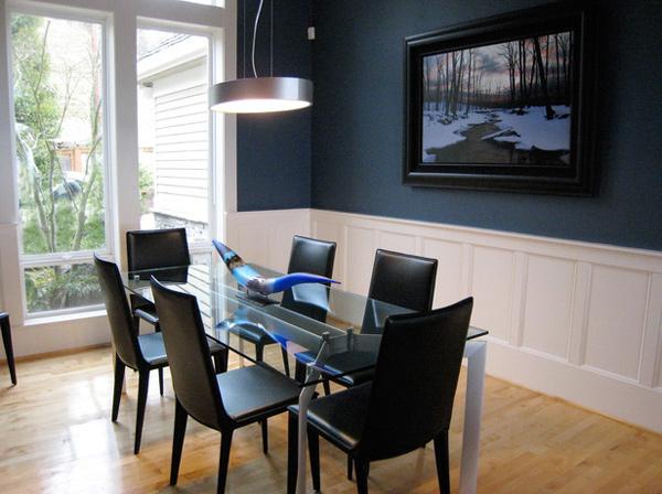 Contemporary Blue Dining Room  Blue Dining Room