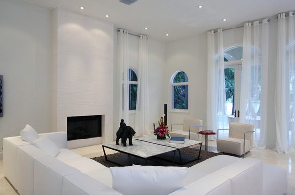 15 Lovely White Themed Living Rooms Home Design Lover