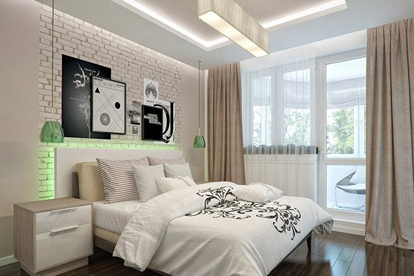 Modern Bedroom in Beige