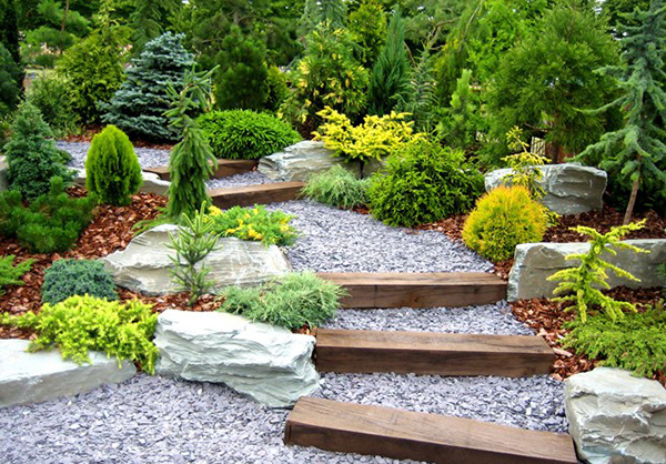 Rolland Asley: Creative landscaping with railroad ties