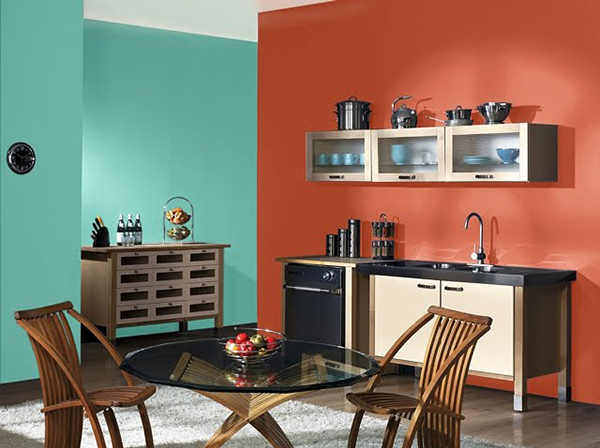 A collection of 15 kitchen paint ideas home design lover - Green and orange kitchen ideas ...