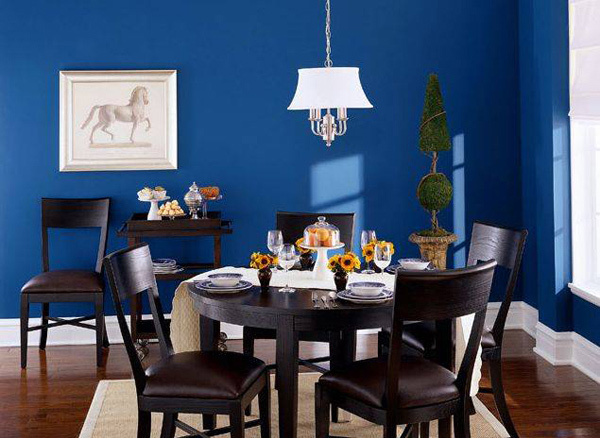 15 wonderfully planned blue dining room designs home for Dining room ideas in blue