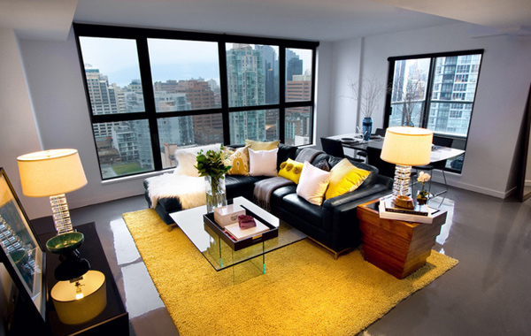 yellow accent rooms