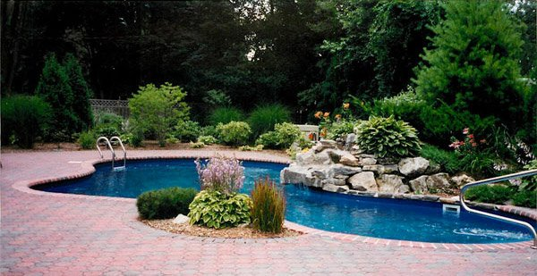 15 pool landscape design ideas home design lover - Landscape and pool design ...