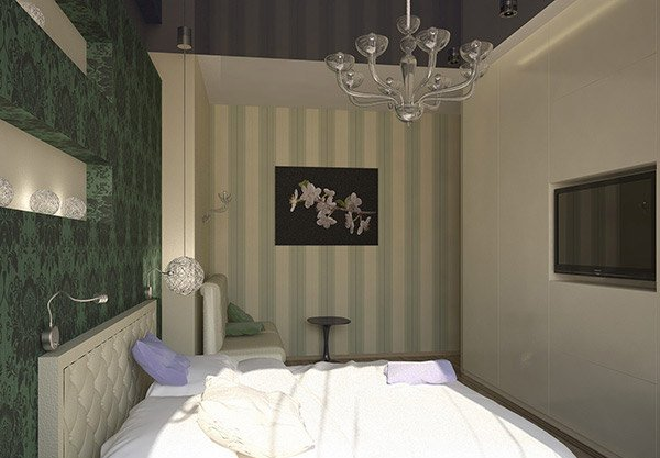 Damask Stripe Bedroom