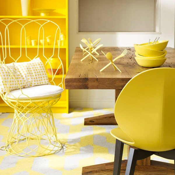 Yellow Dining Rooms: 17 Bright And Pretty Yellow Dining Room Designs