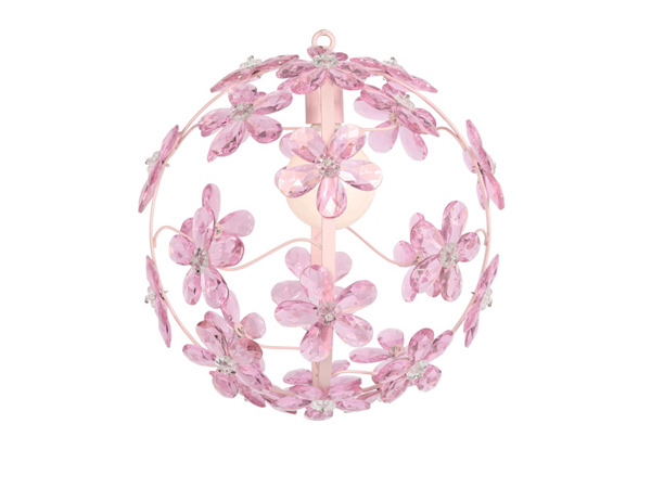 Custom Chloe Pink Crystal Sphere Chandelier