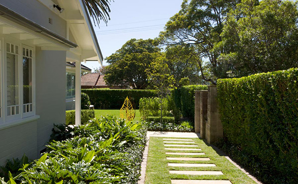 Manicured lawns