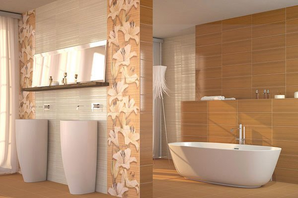 15 creative bathroom tiles ideas home design lover - Beige bathroom design ...