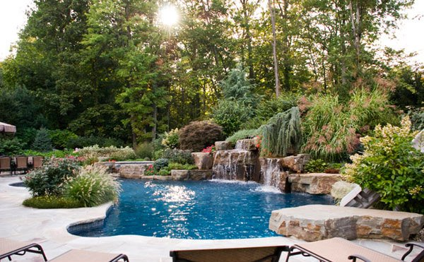 15 pool landscape design ideas home design lover On pool garden designs