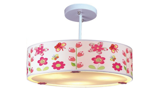 Flowers and Butterflies Ceiling Light