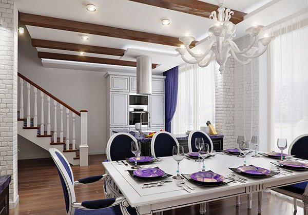 Dining in Lilac Tones
