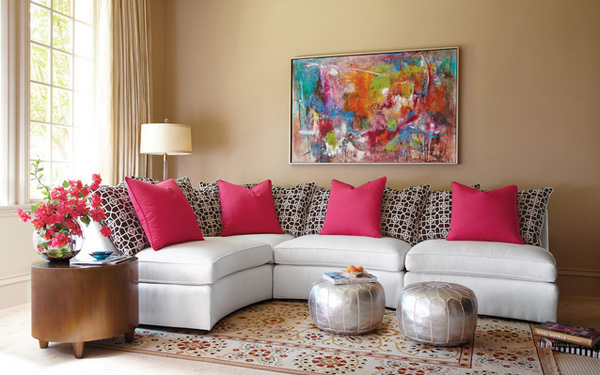 15 Pretty in Pink Living Room Designs Home Design Lover : 7 Horchow Sala from homedesignlover.com size 600 x 407 jpeg 205kB