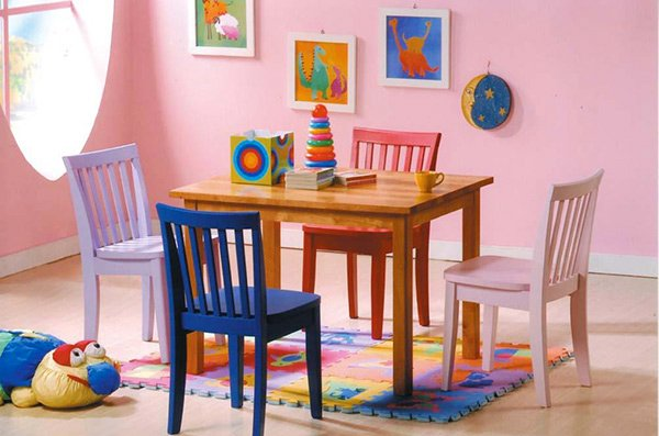 Newport Multi Color Kid's Dining Set