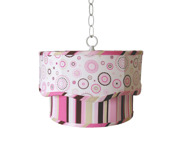 Pink & Brown Gabriella Double Pendant Lamp