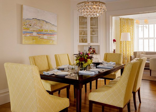 17 bright and pretty yellow dining room designs | home design lover
