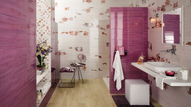 Bathroom Tiles Designs With Highlighters : Creative bathroom tiles ideas home design lover