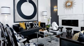 15 Stunning Living Rooms with Black Motifs