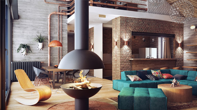 Top Industrial Loft Interior Design 630 x 354 · 105 kB · jpeg