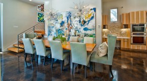 15 Pretty Green Accentuated Dining Room Designs