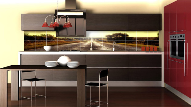 Contemporary Kitchen Tiles Ideas Pictures Intended Decorating