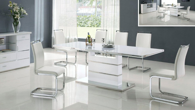 white dinning set collections