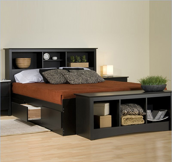 ... Beauty and Function in 15 Storage Platform Beds  Home Design Lover