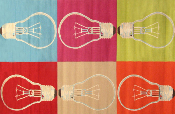 Garvey 5x8 Area Rug Bulbs