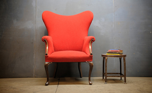 ... Antique Wingback Chairs - Home Design: 15 Antique Wingback Chairs In Plain Colors
