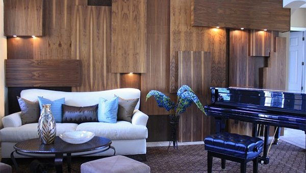 Wooden Panel Walls in 15 Living Room Designs Home Design Lover