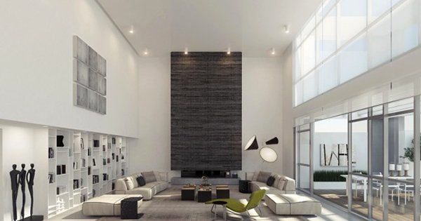 textured wall - 15 Interiors With High Ceilings Home Design Lover