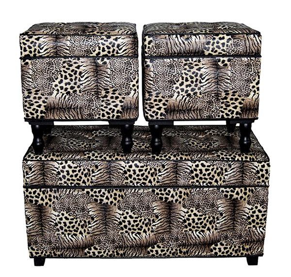 Wild Savanna Animal Print Trunk/Ottomans