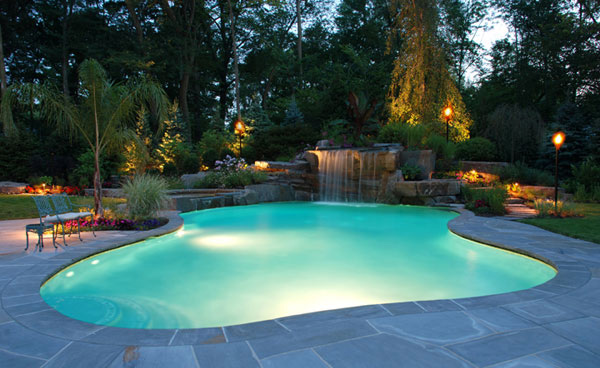 Pool Landscape with Waterwall